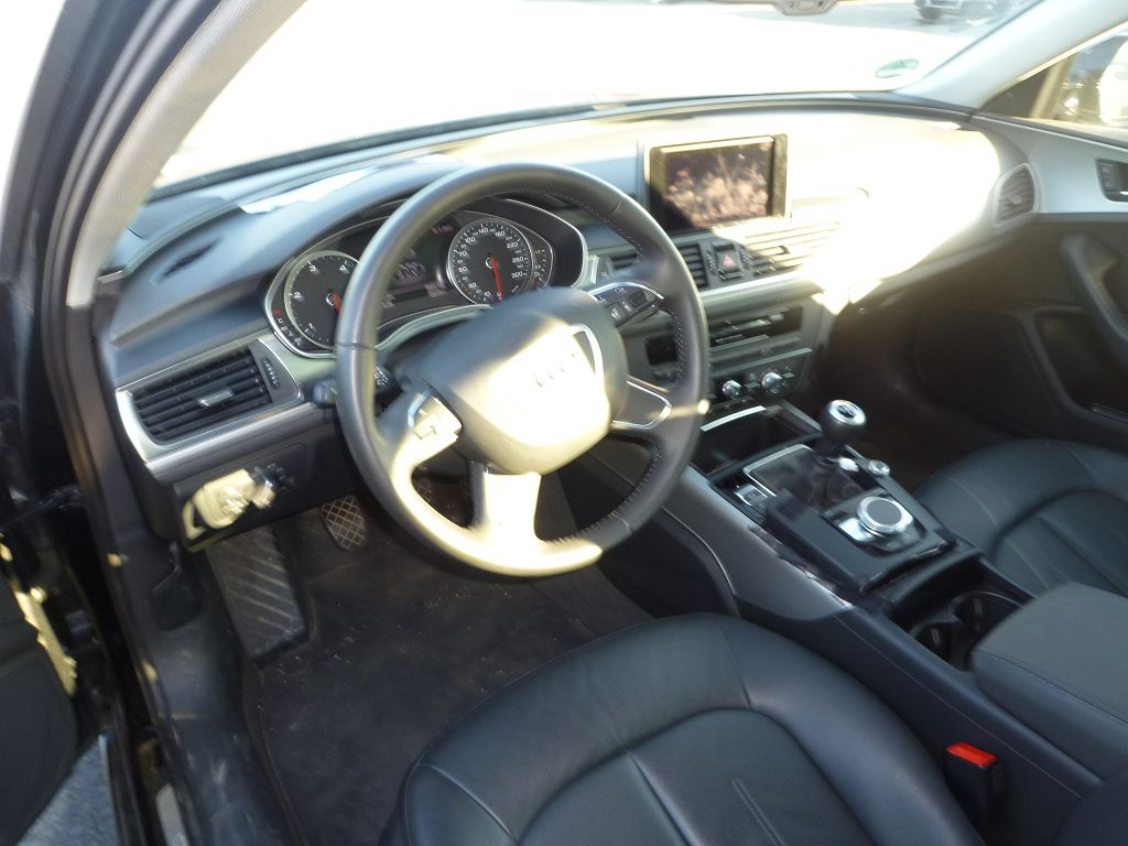 Audi a6 leder interieur zwart leer type 4g sedan 2013 for Interieur audi a6